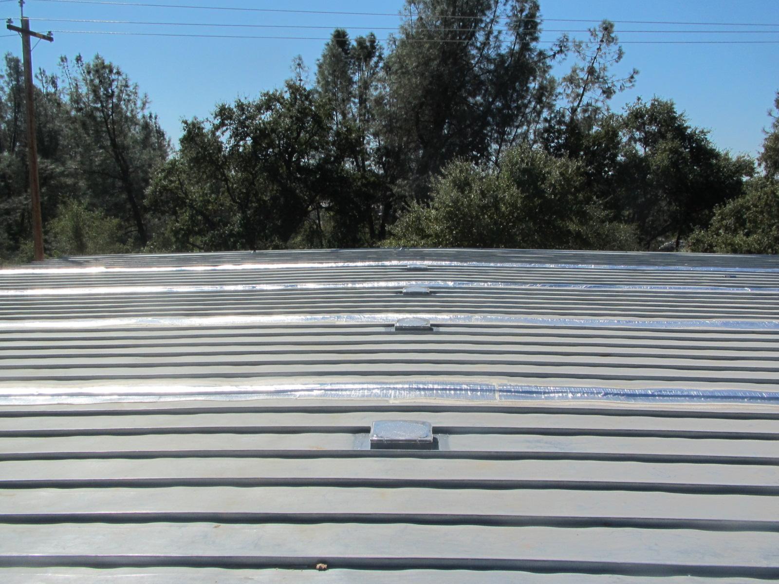 sun glo on metal roof