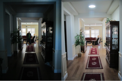 Before & After in your hallway.