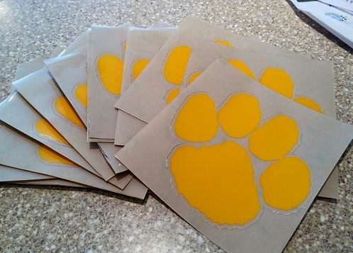 Panther Paw Window Decal