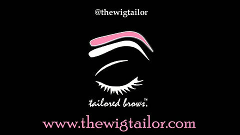 Tailored Brows Cosmetic's Model gets style Jade applied.Tailored Brows Cosmetics' favoriteYouTuber, ShalomBlac puts on a pair of eyebrow wigs.