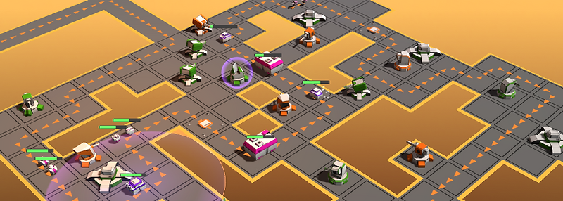 TowerDefense, game, Grid, GridDefense, Turret, low-poly