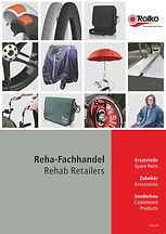 Catalogue from Rolko containig accessories for specialised retailer of wheelchairs and rehabilitation products