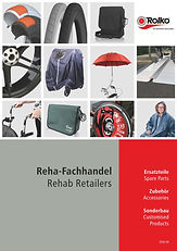 Catalogue with ou product assortment for rehab specialised dealers