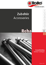 Product group 8 of our rehab catalogue containing a wide range of acessories for wheelchairs like ramps, umbrellas, seat cushions, spoke guards, ponchos, body warmers and much more