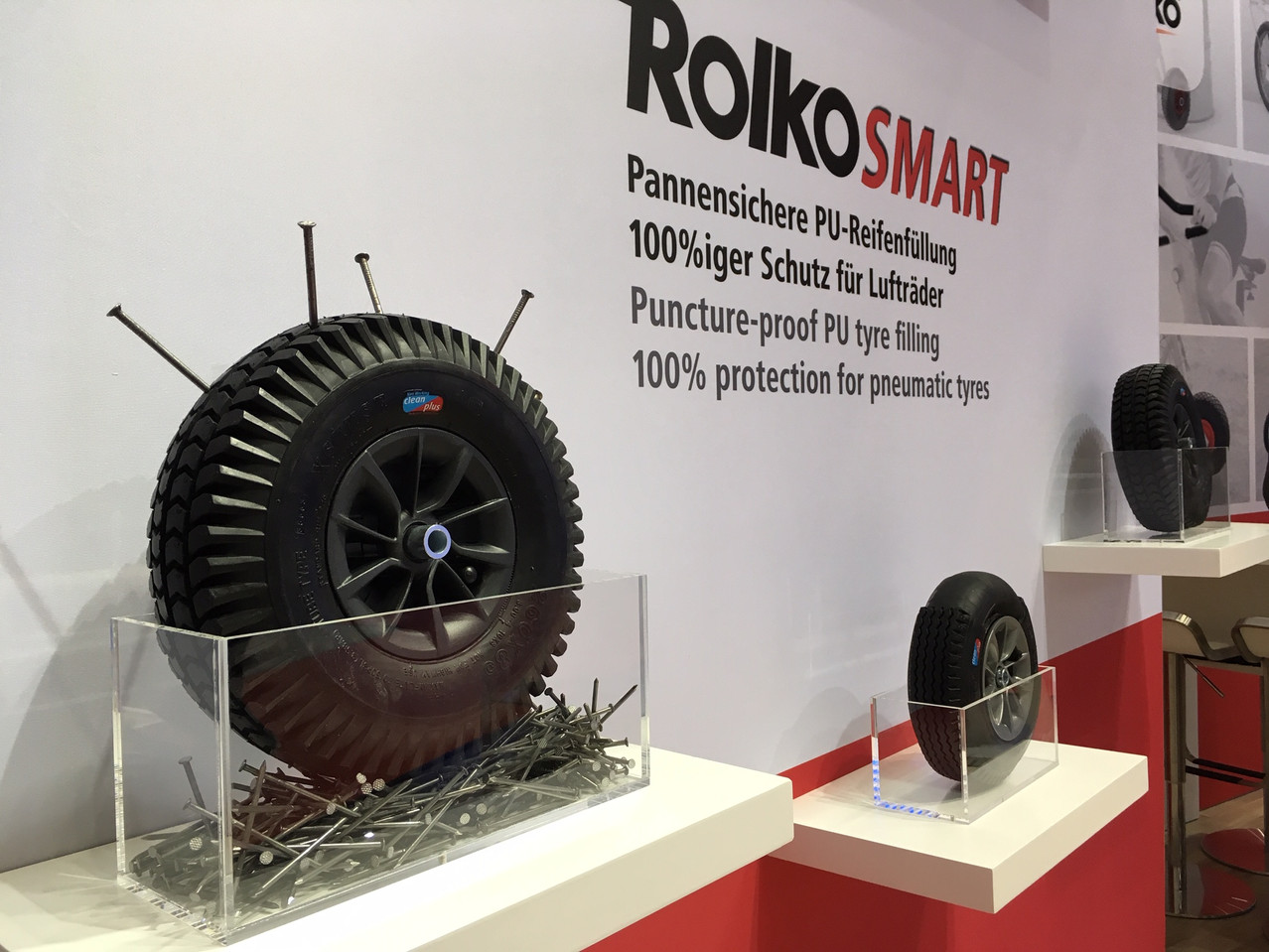 LogiMAT: puncture-proof tyres