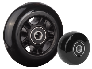 Black skate casters for wheelchairs