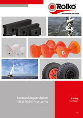 Catalogue with boat trailer accessories