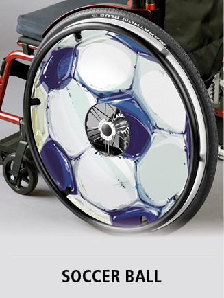 Customized spoke guard with soccer theme