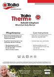 Bedienungsanleitung zu unseren Schlupfsäcken und Wickeldecken Rolko-Thermo