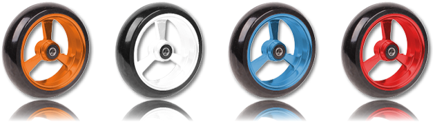 Frog Legs wheels with coloured rims