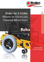 Product group 2 of our rehab catalogue containing wheels and other accessories for electric powered / motorized wheelchairs