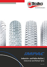Our brochure containg tyres of the brand iMPAC for the rehab sector