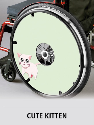 Customized spoke guard with kitten theme