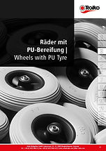 Wheels, steering castors and fixed castors with polyurethane tyre