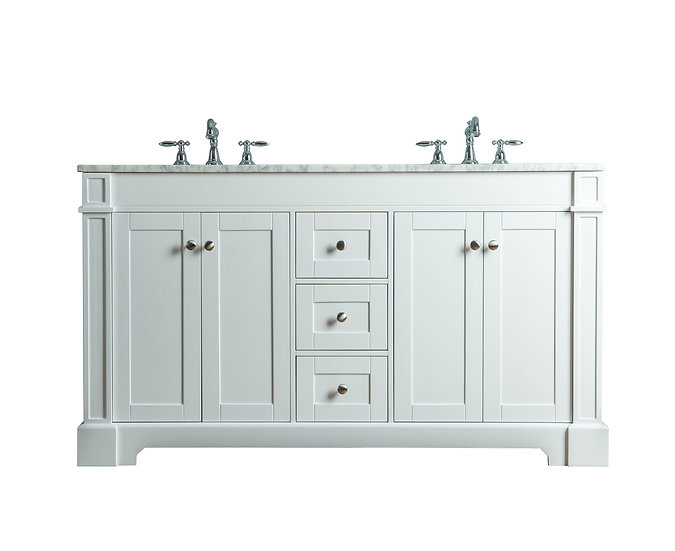 "Seine 60"" White Double Sink Vanity"