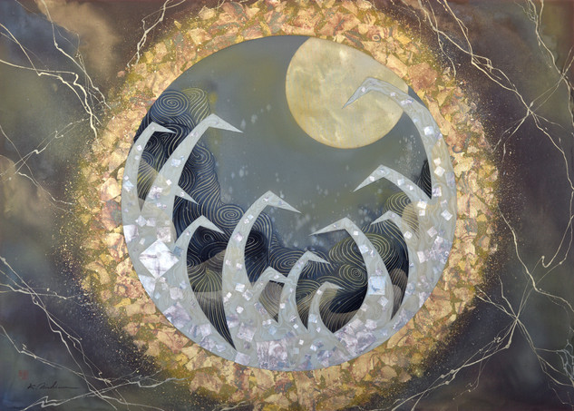 The Moon Moves Us 30x42