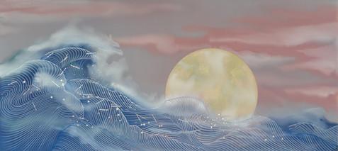 Rose Full Moon 19x42