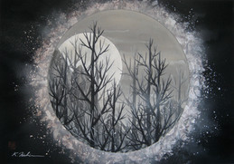 Chill Moon 16x22
