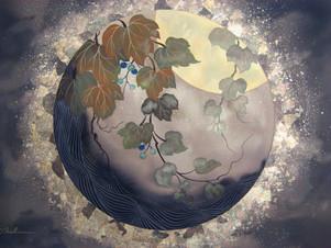 Autumn Moon 16x22
