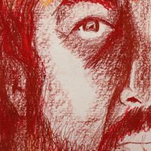 Auto retrato - 36x80 - Pastel a óleo