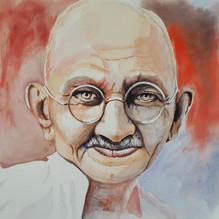 Mahatma Gandhi - 30x30 - Aquarela sobre papel