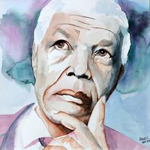 Nelson Mandela - 30x30 - Aquarela sobre papel