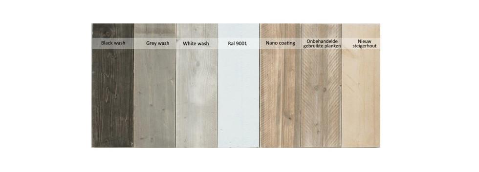 Kleuren steigerhout