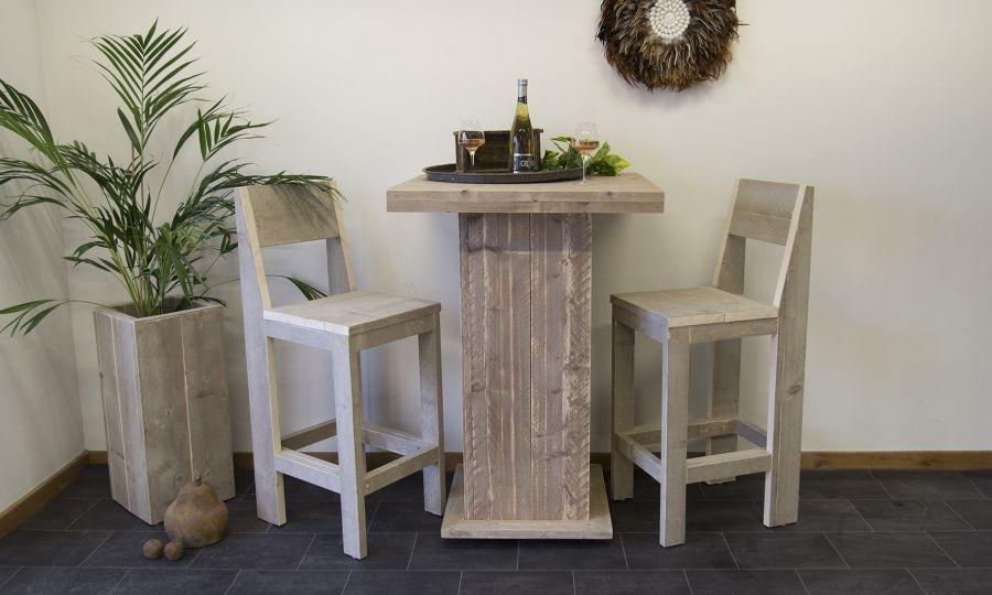 kruk en bartafel steigerhout
