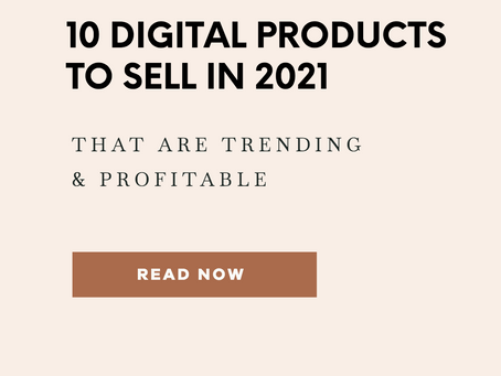 10 Profitable Digital Products to Sell Online in 2021