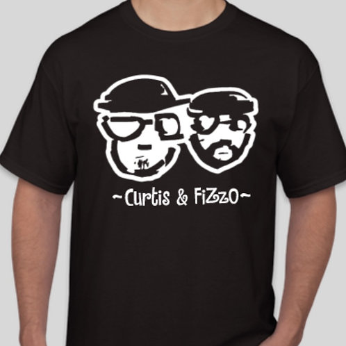 ~Curtis & FiZzO~ Black T-Shirt For Adults