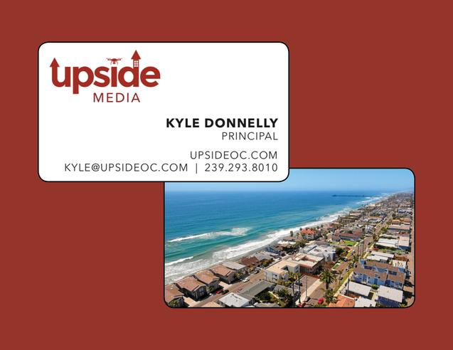 tingtang creative Graphic Design Branding Marketing Creative Direction Naples Florida Upside Media Custom Business Cards