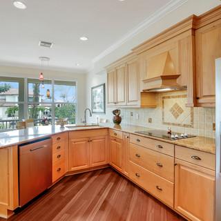Kitchen, Maple cabinets, Granite tops, N