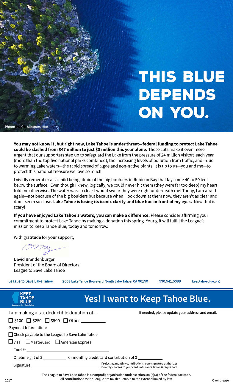 tingtang creative Graphic Design Branding Marketing Creative Direction Naples Florida Keep Tahoe Blue Solicitation Letterhead.jp