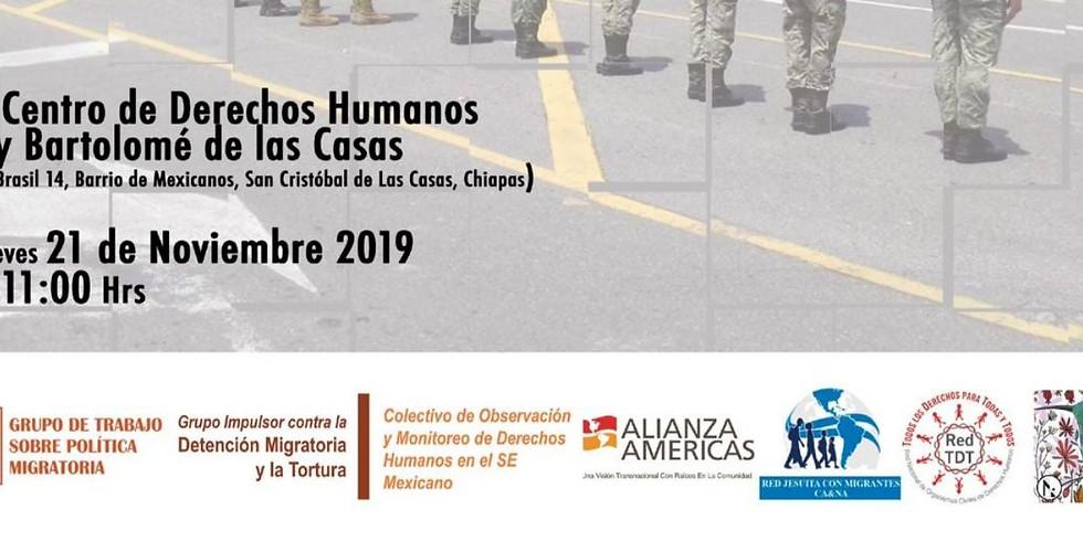 Conferencia de prensa Impactos de la política migratoria de México en la frontera sur