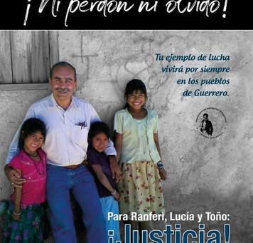 Justicia para Ranferi, Lucía y Toño