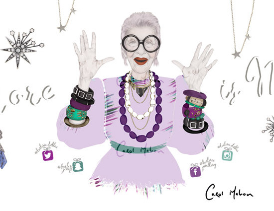 Loulerie Iris Apfel Christmas Window