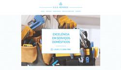 Site modelo: Serviços domésticos