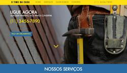 Site modelo: Serviços de manutenção