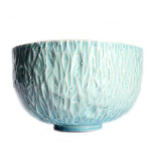 Sea Blue Facet Bowl