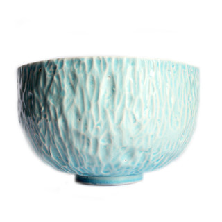 Sea Blue Facet Bowl