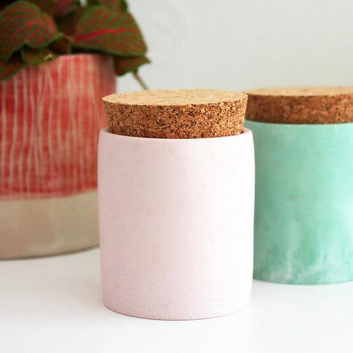 Champagne Pink Cylinder Pot