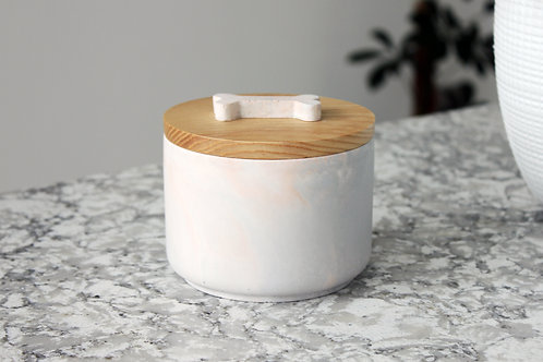 Pink & Grey Marble Treat Jar