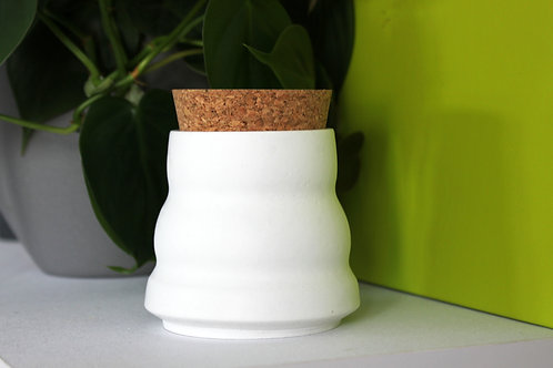 White Ripple Pot