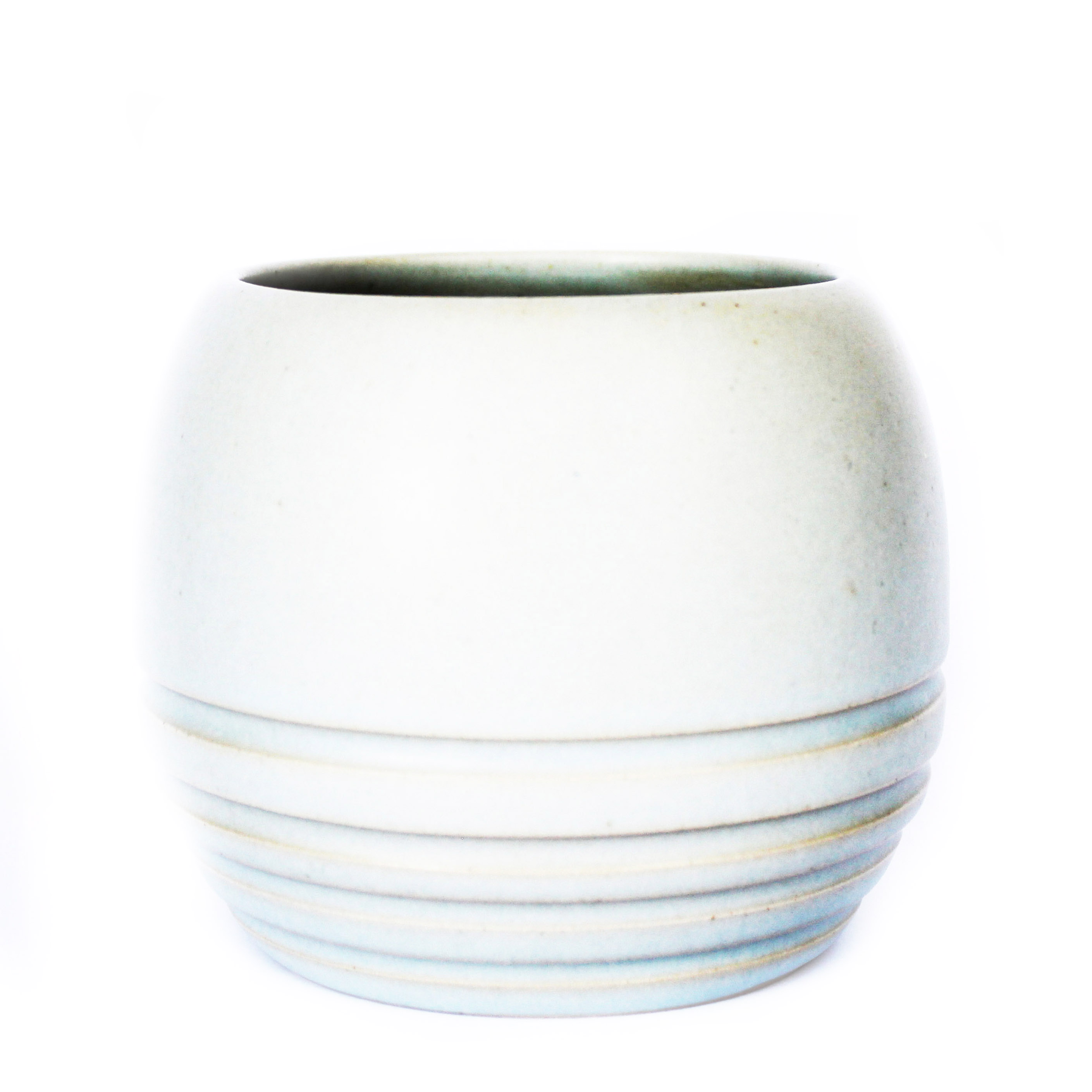 Matt Grey Stripe Planter