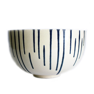White & Blue Drip Bowl