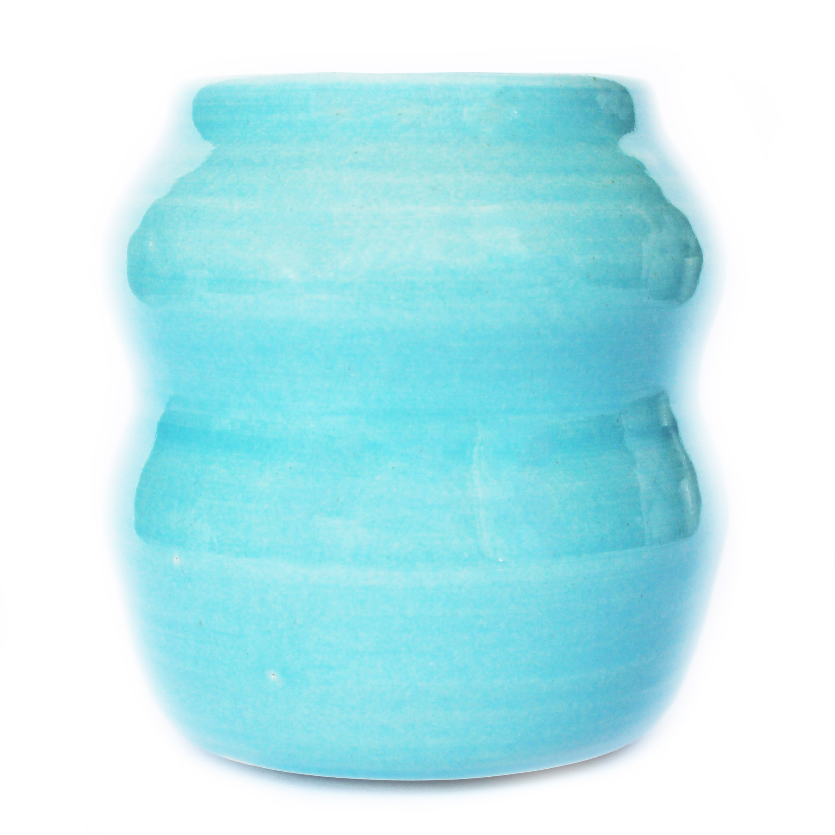 Gloss Sea Blue Curvy Planter