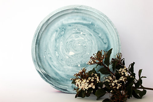 Blue Galaxy Marbled Tray