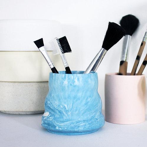 Blue Marble Ripple Pot