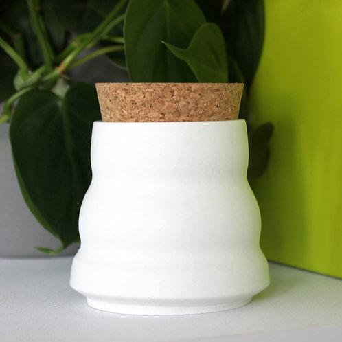 White Ripple Pot