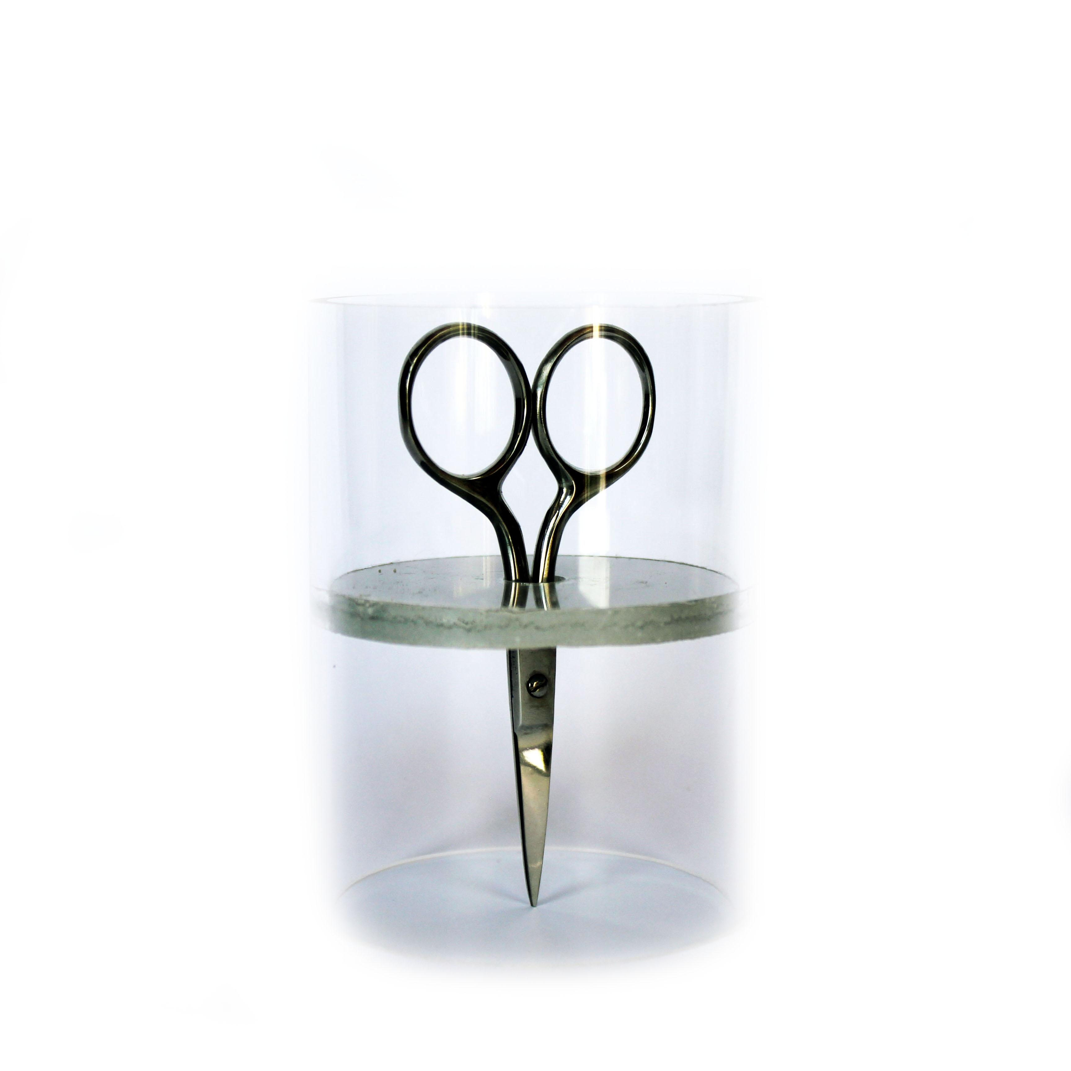 Grey Scissor Stand
